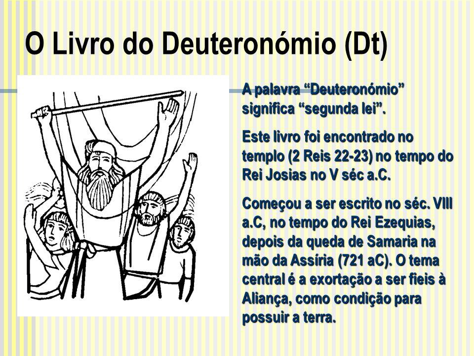 """A palavra """"Deuteronómio"""" significa """"segunda lei"""". Este livro foi encontrado no templo (2 Reis 22-23) no tempo do Rei Josias no V séc a.C. Começou a se"""