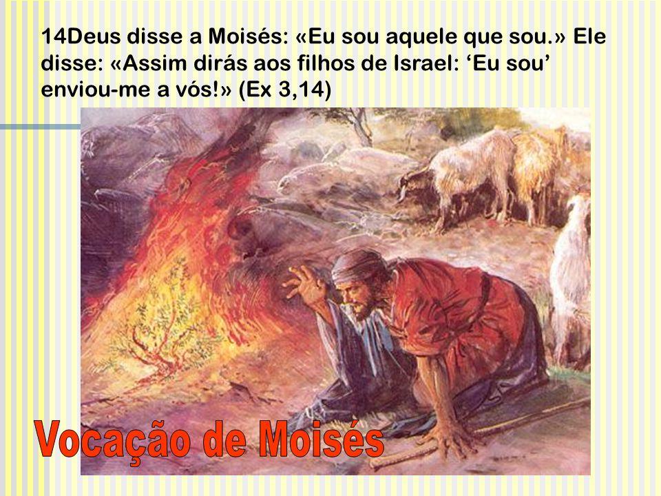 14Deus disse a Moisés: «Eu sou aquele que sou.» Ele disse: «Assim dirás aos filhos de Israel: 'Eu sou' enviou-me a vós!» (Ex 3,14)