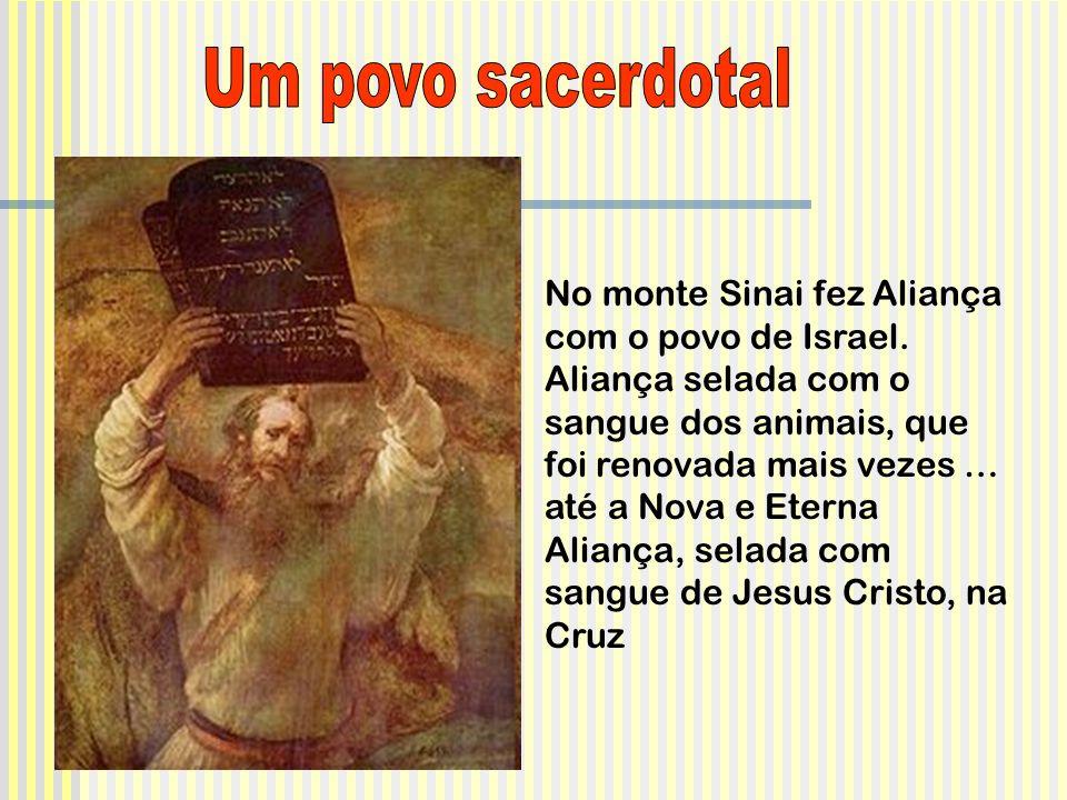 No monte Sinai fez Aliança com o povo de Israel.