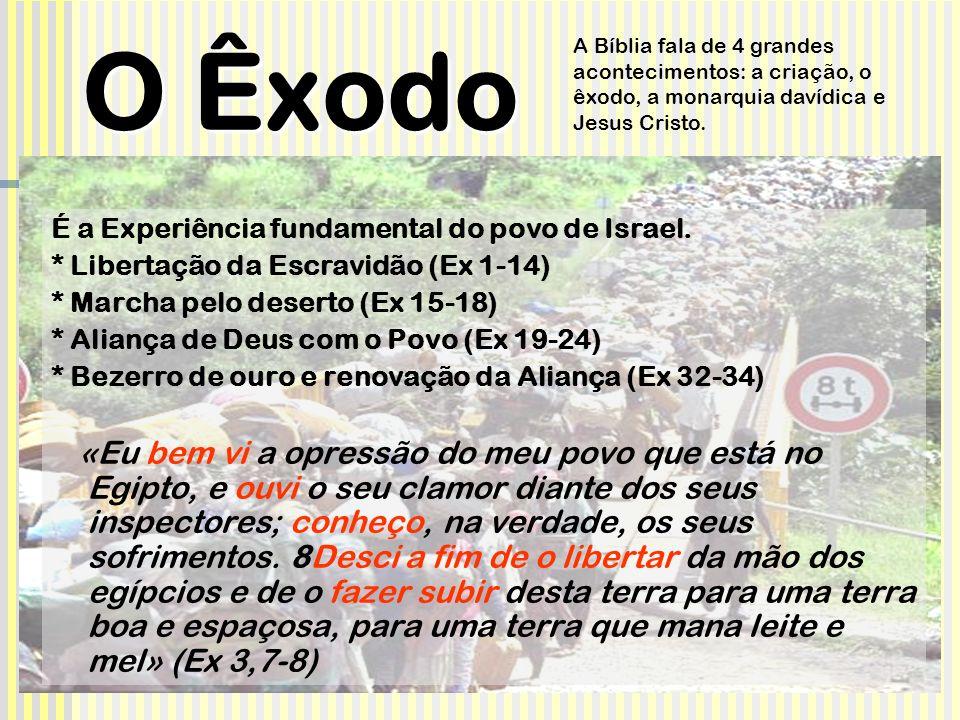 O Êxodo É a Experiência fundamental do povo de Israel.