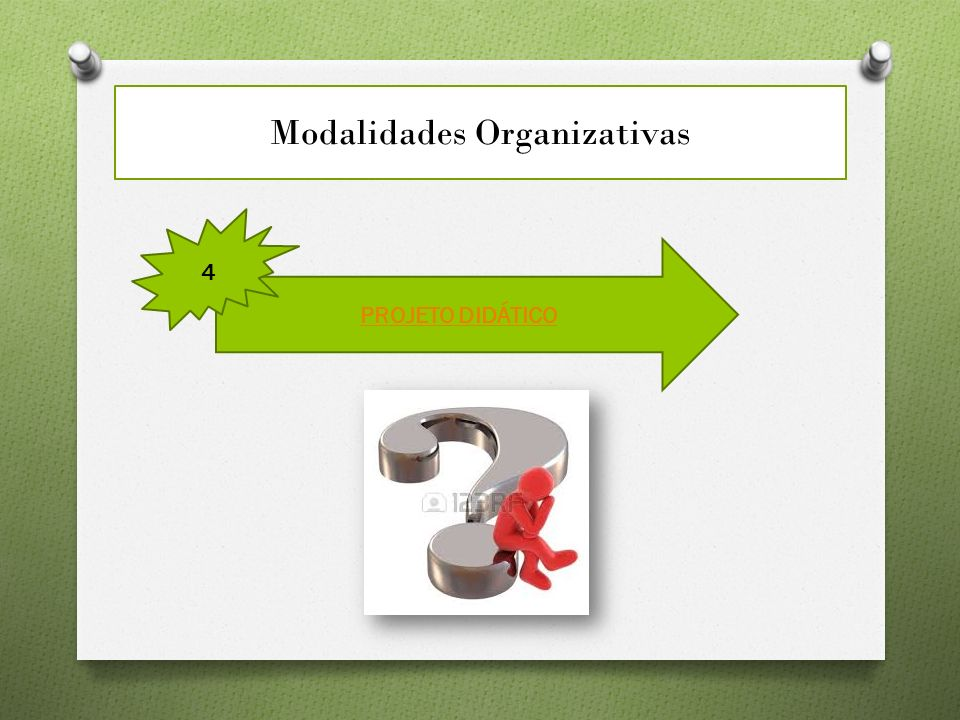 Modalidades Organizativas PROJETO DIDÁTICO 4