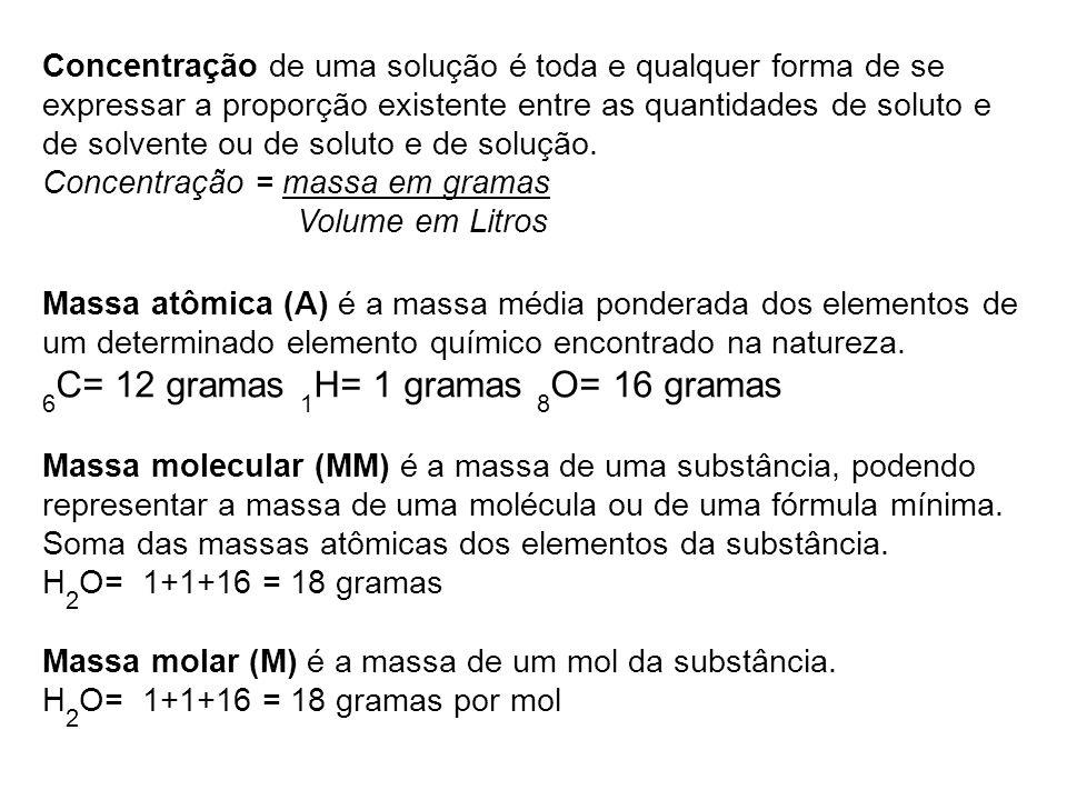 Resolução de exercícios: 7) O primeiro passo para resolver essa questão é calcular o número de mols presente em 3,42 g de sacarose.