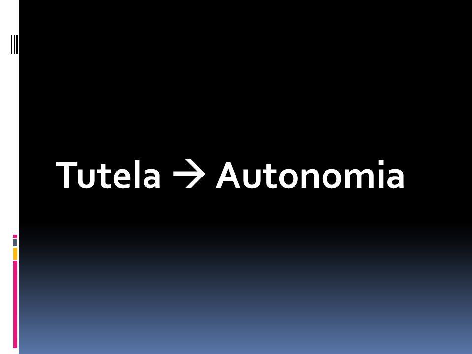 Tutela  Autonomia