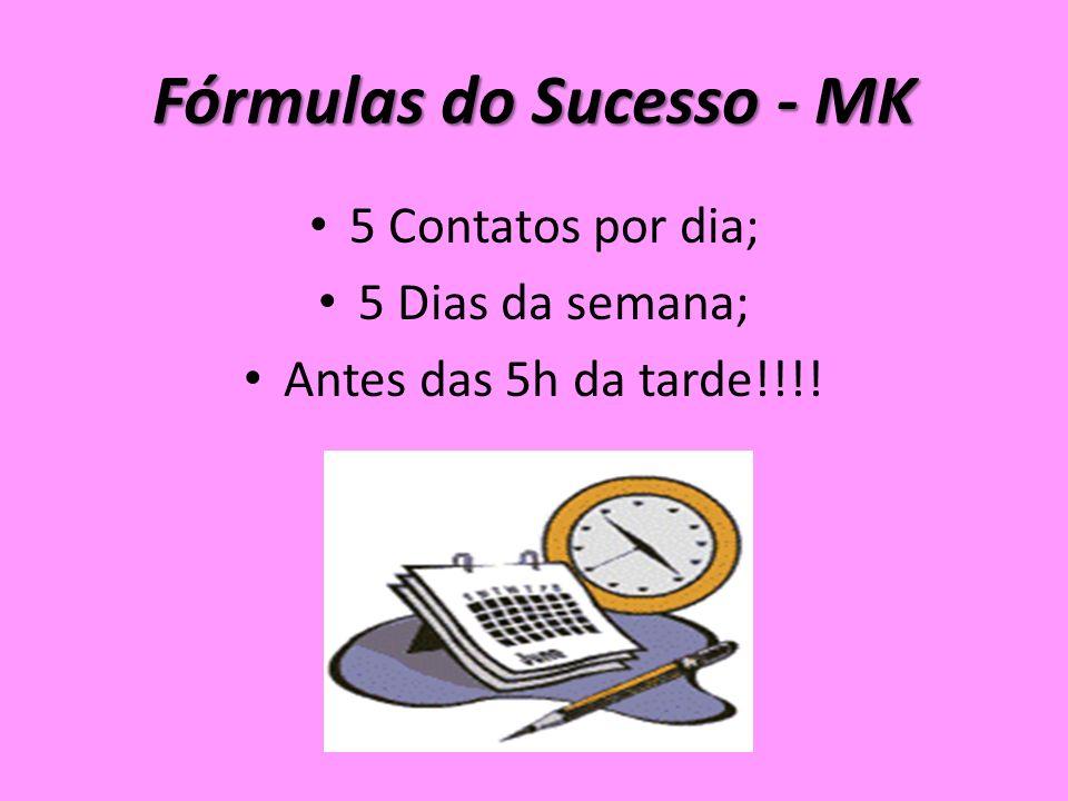 Fórmulas do Sucesso - MK 5 Contatos por dia; 5 Dias da semana; Antes das 5h da tarde!!!!