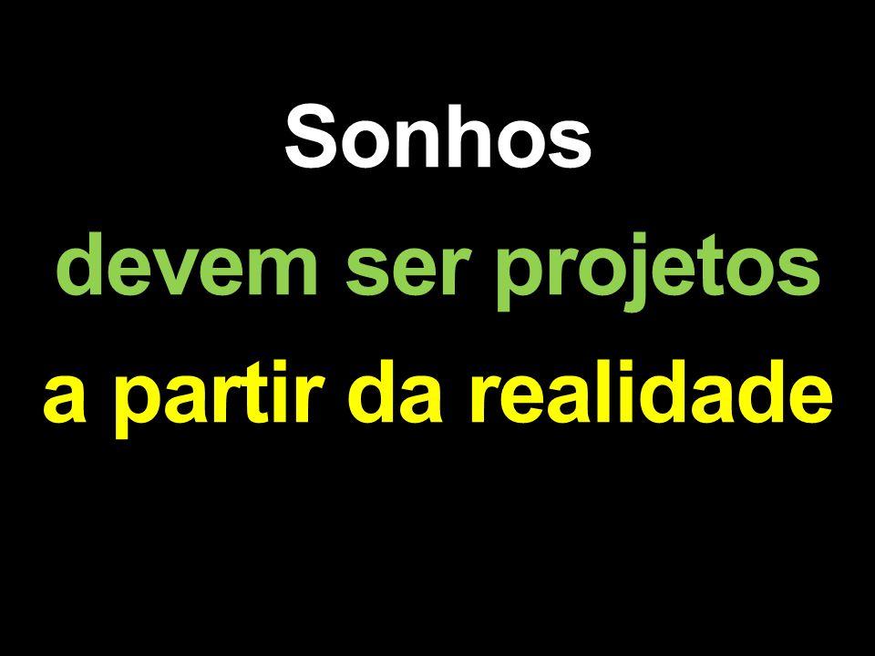 Sonhos devem ser projetos a partir da realidade