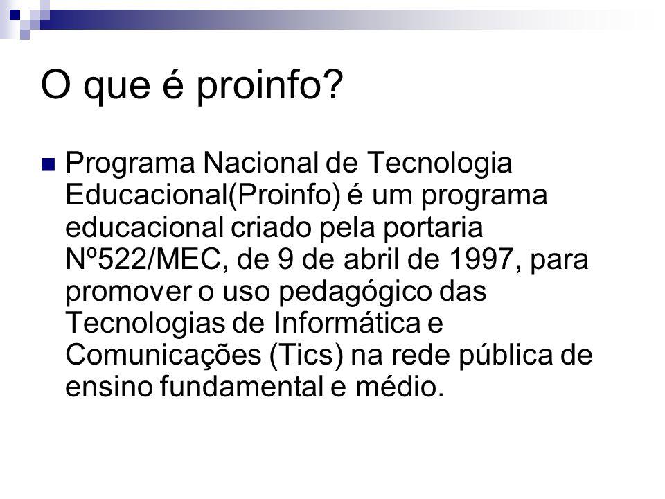 O que é proinfo.