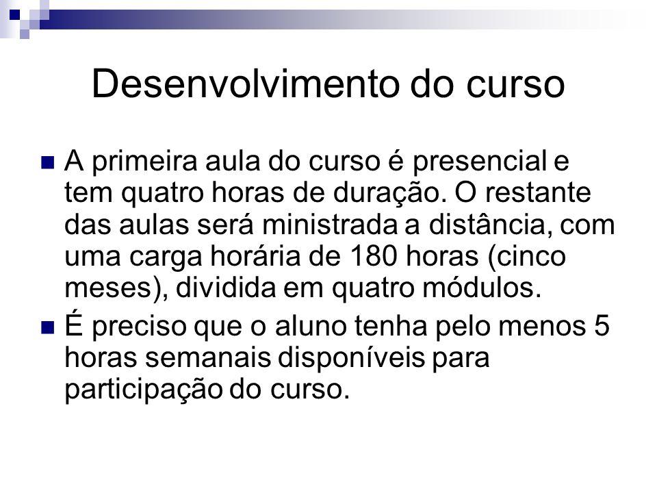 Responsável para ministrar o curso.O curso será ministrado por um professor da rede(tutor).