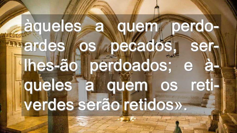 Não fiquemos debaixo do tecto Tomemos altura para irradiar o sopro do Espírito que Jesus nos manda do Pai Exterior do Cenáculo
