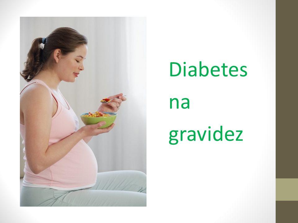 Diabetes na gestação – tratamento caso o controle pela nutrição não seja possível Metformina - diminui a gliconeogênese hepática e a absorção da glicose e aumenta a utilização periférica da glicose Glibenclamida - ligando-se aos receptores da célula-β, bloqueando o canal de potássio e abrindo o canal de cálcio, o que aumenta o cálcio intracitoplasmático e estimula a liberação da insulina