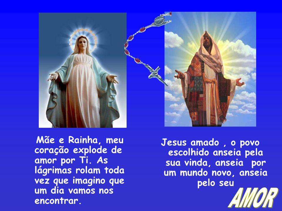 Mãe Admirável, que segura os braços de seu Filho Jesus com seu amor para que Ele adie sua Justiça Divina.
