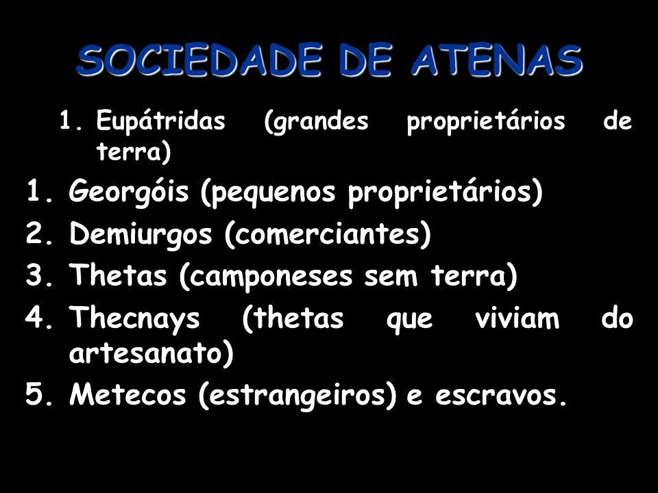 LEGISLADORES DE ATENAS Drácon: redigiu as leis – até então orais -, dificultando sua manipulação pelos eupátridas.