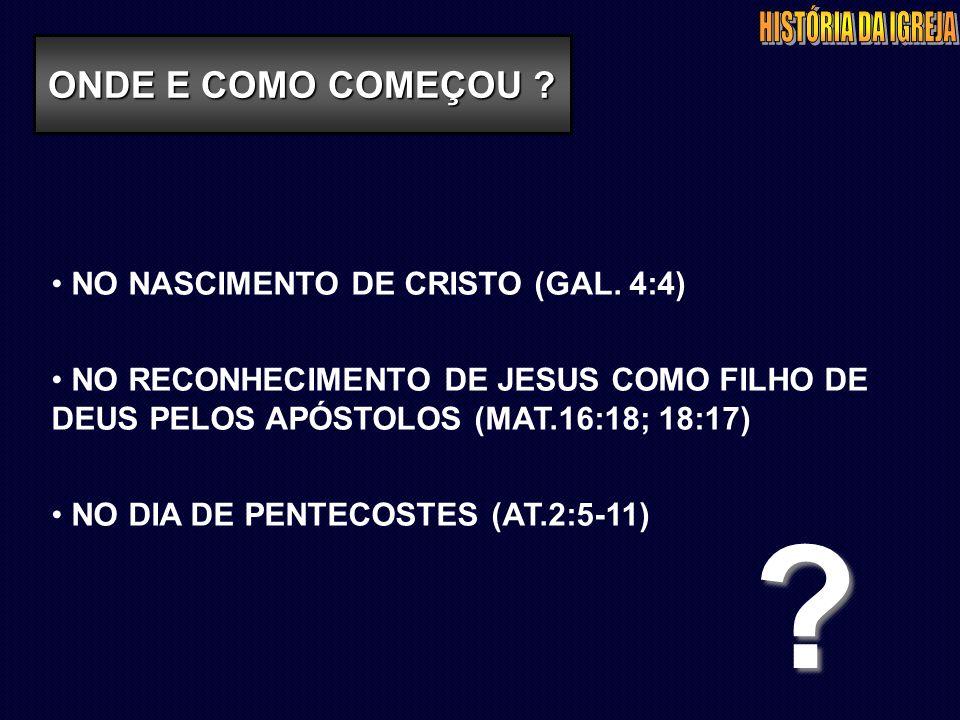 NO NASCIMENTO DE CRISTO (GAL.