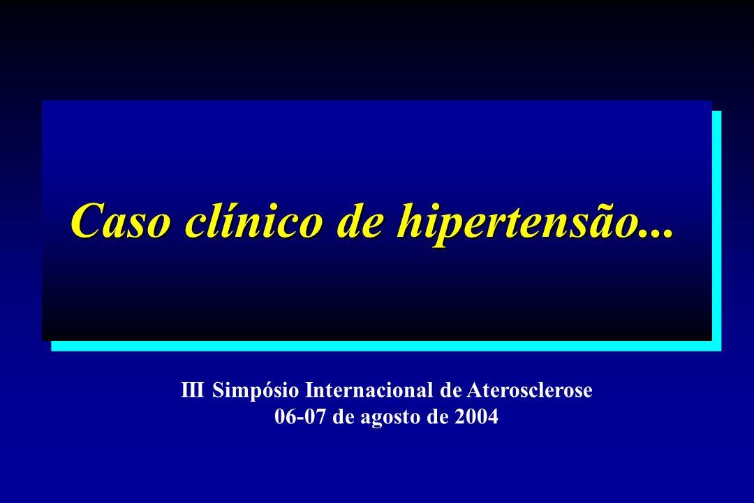 Caso clínico de hipertensão... III Simpósio Internacional de Aterosclerose 06-07 de agosto de 2004