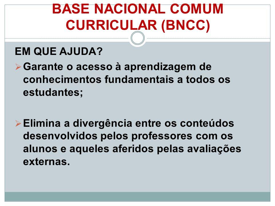 BASE NACIONAL COMUM CURRICULAR (BNCC) EM QUE AJUDA.