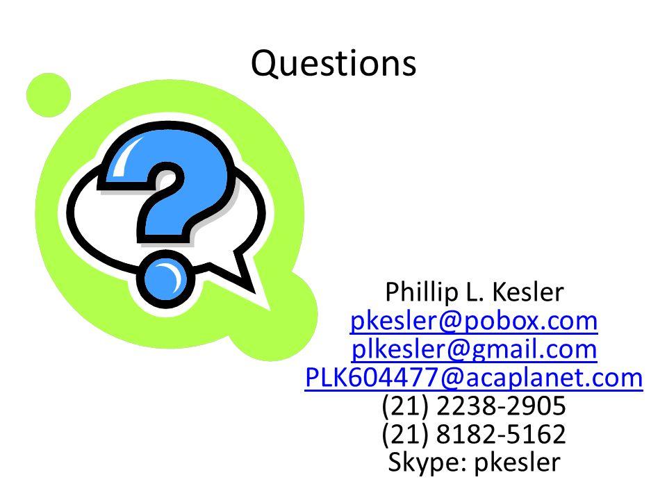 Questions Phillip L.