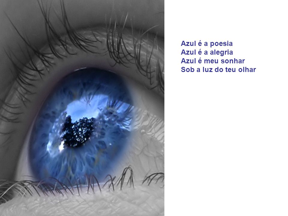 <<< AZUL É O TEU OLHAR >>> Azul é o céu Azul é o mar Azul é o véu Que envolve o teu olhar