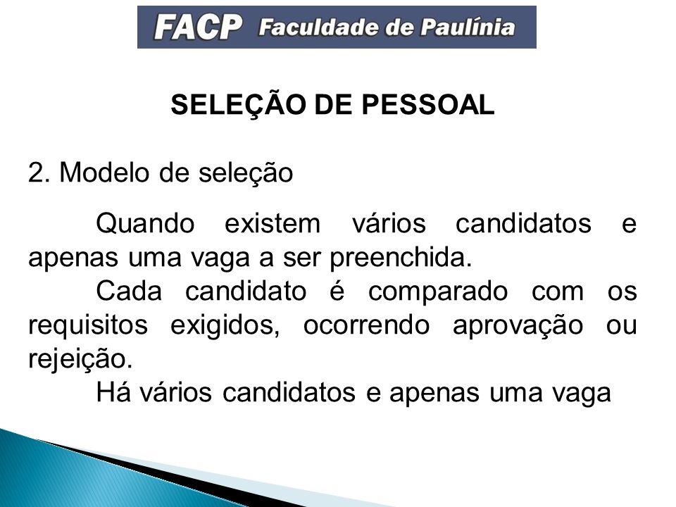 SELEÇÃO DE PESSOAL 2.
