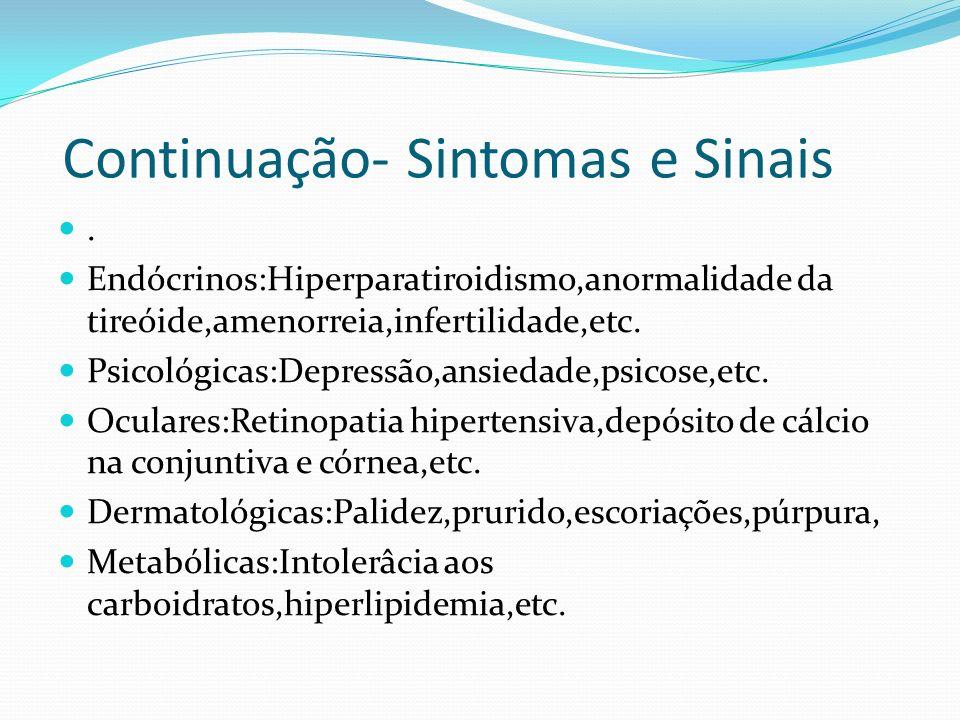 Continuação- Sintomas e Sinais.