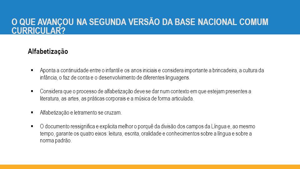 O QUE AVANÇOU NA SEGUNDA VERSÃO DA BASE NACIONAL COMUM CURRICULAR.