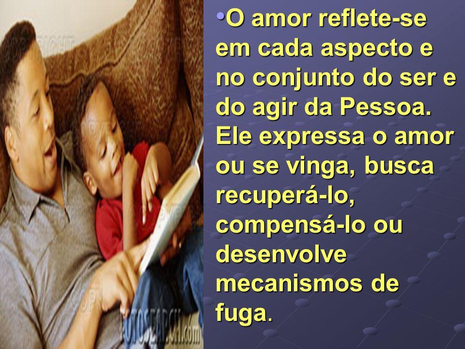 O amor reflete-se em cada aspecto e no conjunto do ser e do agir da Pessoa.