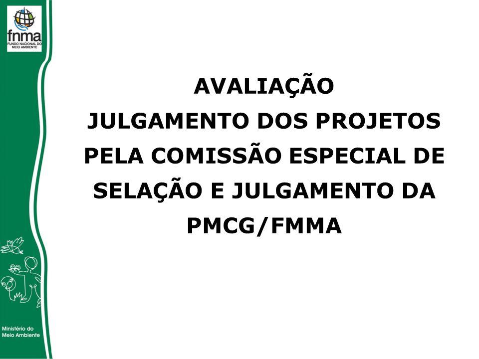 AVALIAÇÃO JULGAMENTO DOS PROJETOS PELA COMISSÃO ESPECIAL DE SELAÇÃO E JULGAMENTO DA PMCG/FMMA