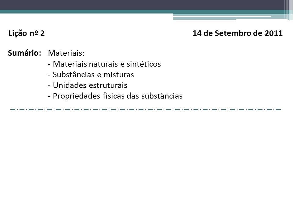 Lição nº 2 14 de Setembro de 2011
