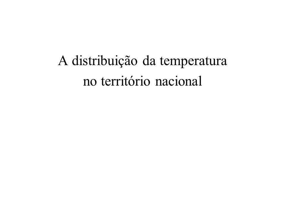 A distribuição da temperatura no território nacional