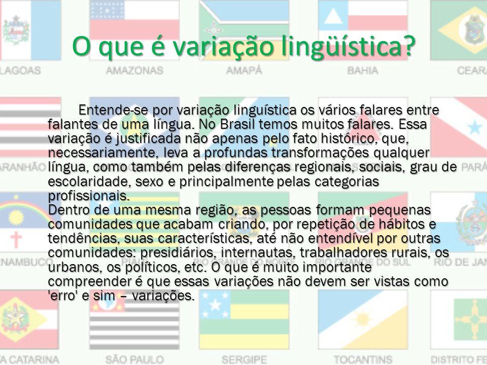 O que é variação lingüística.