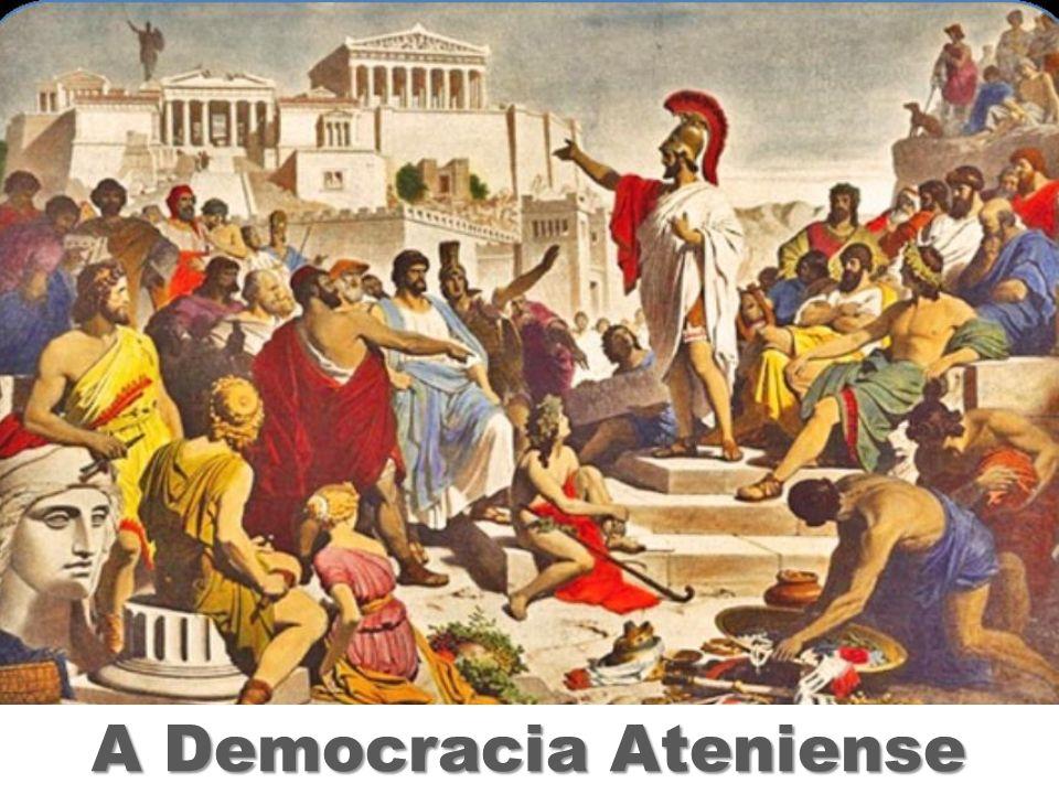 A DEMOCRACIA ATENIENSE Evolução política de Atenas: Monarquia Aristocracia Tirania Democracia