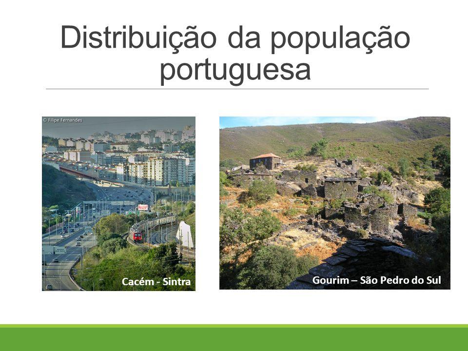 Distribuição da população portuguesa Cacém - Sintra Gourim – São Pedro do Sul