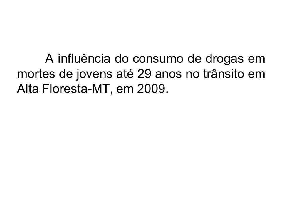 A influência do consumo de drogas em mortes de jovens até 29 anos no trânsito em Alta Floresta-MT, em 2009.