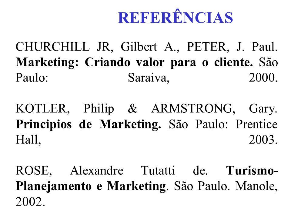 REFERÊNCIAS CHURCHILL JR, Gilbert A., PETER, J. Paul.