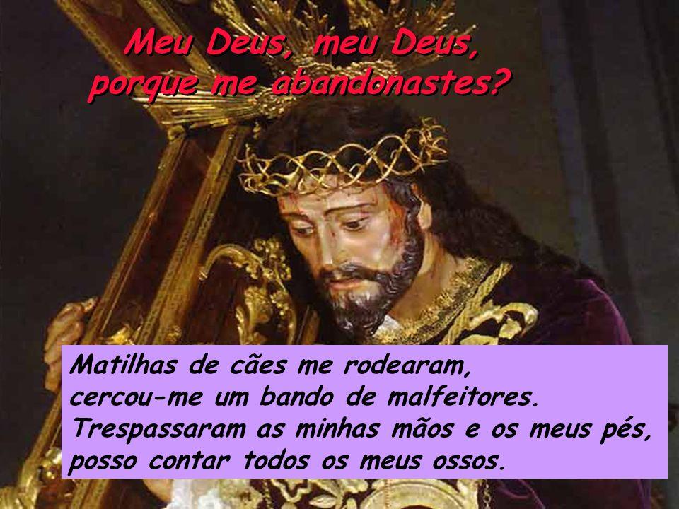Meu Deus, meu Deus, porque me abandonastes.Meu Deus, meu Deus, porque me abandonastes.
