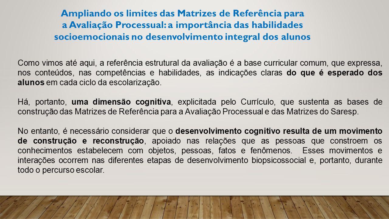 Ampliando os limites das Matrizes de Referência para a Avaliação Processual: a importância das habilidades socioemocionais no desenvolvimento integral