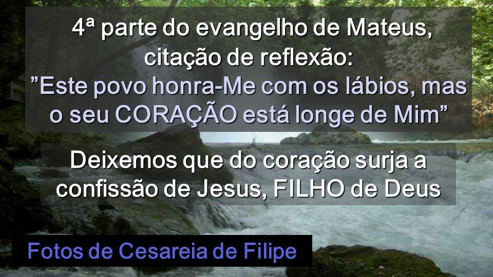 Jesus respondeu-lhe: «Feliz de ti, Simão, filho de Jonas, porque não foram a carne e o sangue que to revelaram, mas sim meu Pai que está nos Céus.
