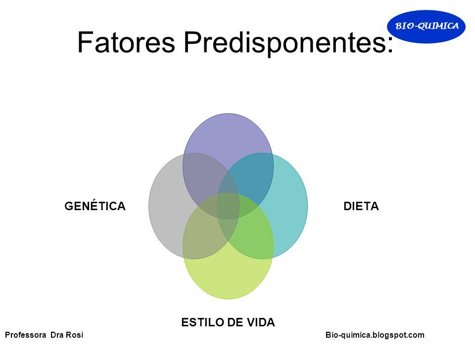 Fatores Predisponentes: Professora Dra Rosi Bio-quimica.blogspot.com BIO-QUIMICA