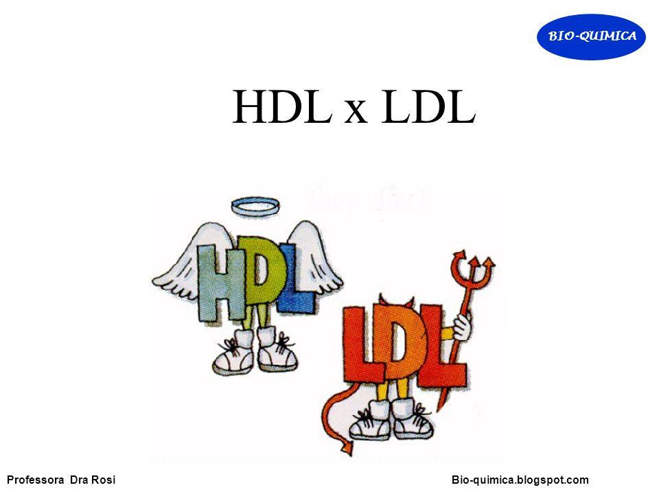 HDL x LDL BIO-QUIMICA Professora Dra Rosi Bio-quimica.blogspot.com