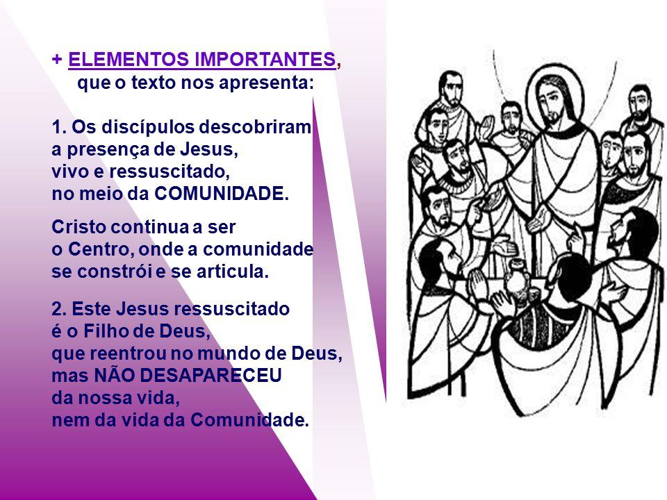 + O Evangelho mostra que a Ressurreição foi um FACTO REAL, mas os apóstolos não conseguiram acreditar facilmente.