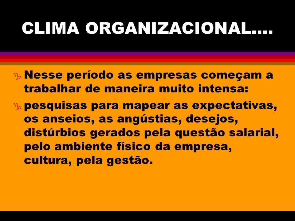 CLIMA ORGANIZACIONAL....