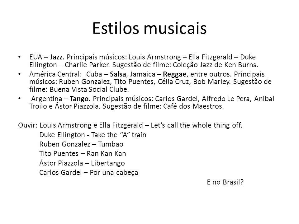 Estilos musicais EUA – Jazz.