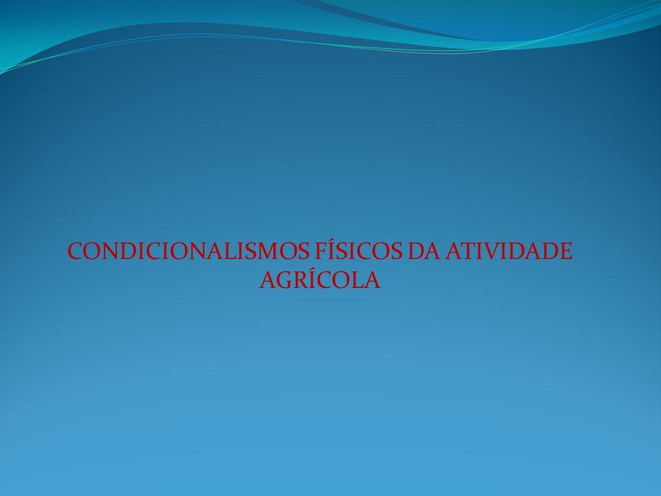 CONDICIONALISMOS FÍSICOS DA ATIVIDADE AGRÍCOLA