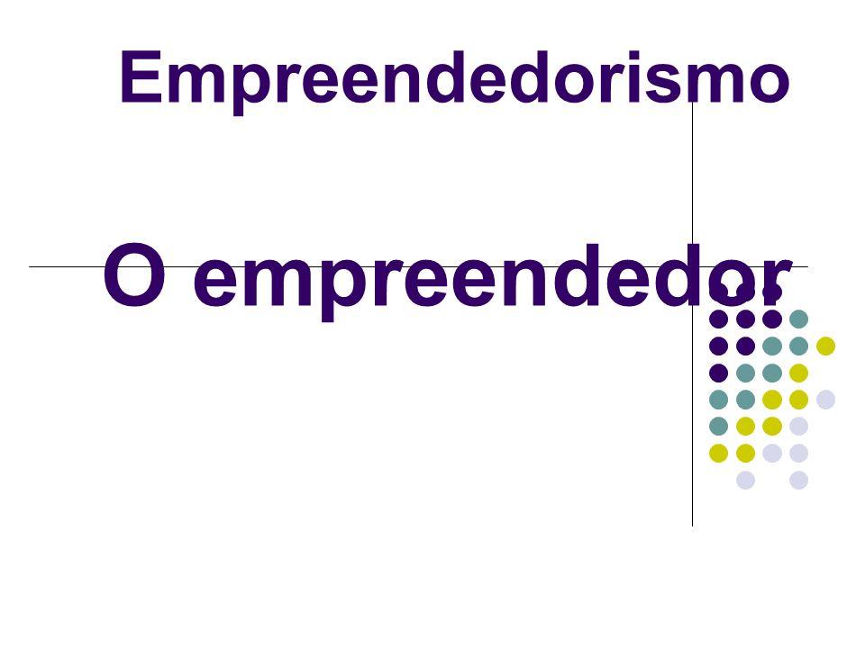 Empreendedorismo O empreendedor
