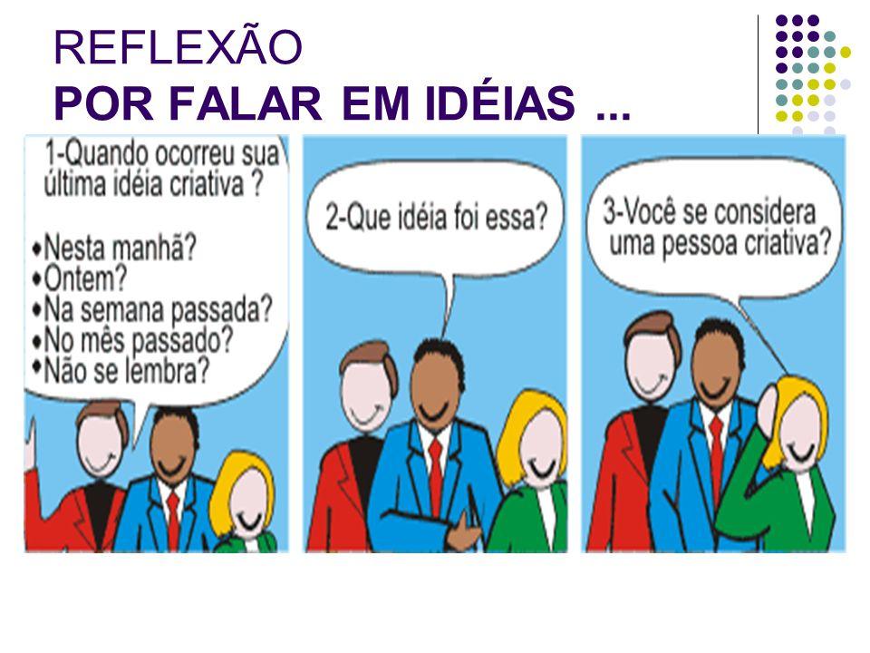 REFLEXÃO POR FALAR EM IDÉIAS...