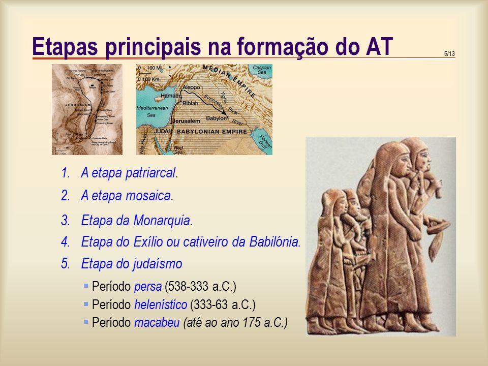 6/13 Etapas principais na formação do AT 1. A etapa patriarcal.