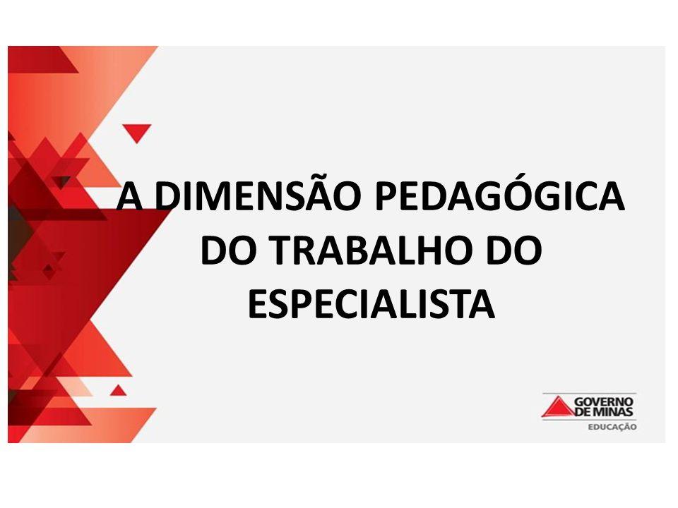 A DIMENSÃO PEDAGÓGICA DO TRABALHO DO ESPECIALISTA