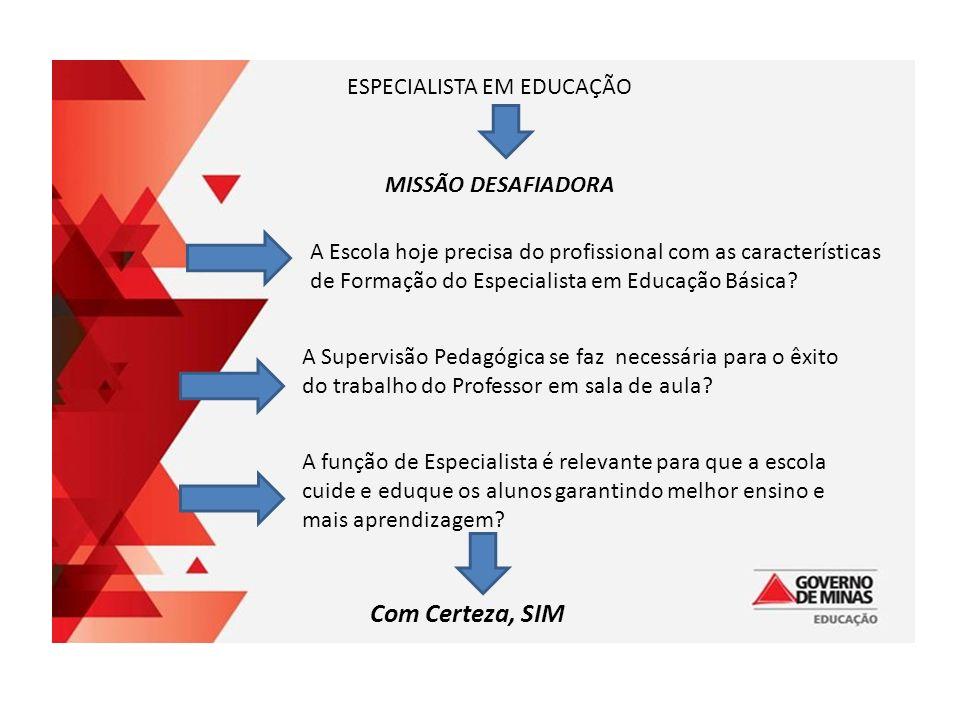 ESPECIALISTA EM EDUCAÇÃO BÁSICA MISSÃO DESAFIADORA ESPECIALISTA EM EDUCAÇÃO MISSÃO DESAFIADORA A Escola hoje precisa do profissional com as características de Formação do Especialista em Educação Básica.