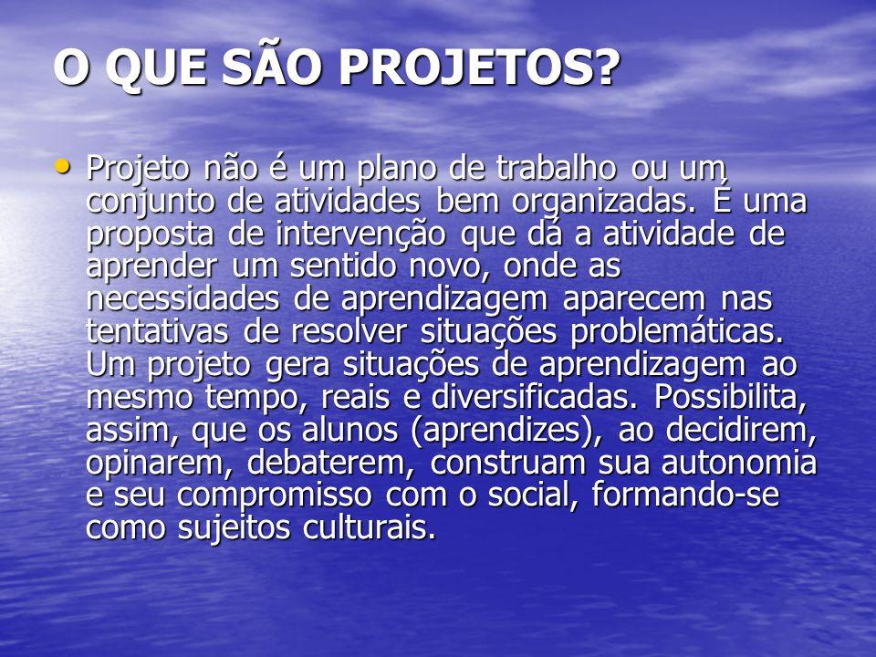 QUAIS AS CARACTERÍSTICAS FUNDAMENTAIS DO TRABALHO COM PROJETO.