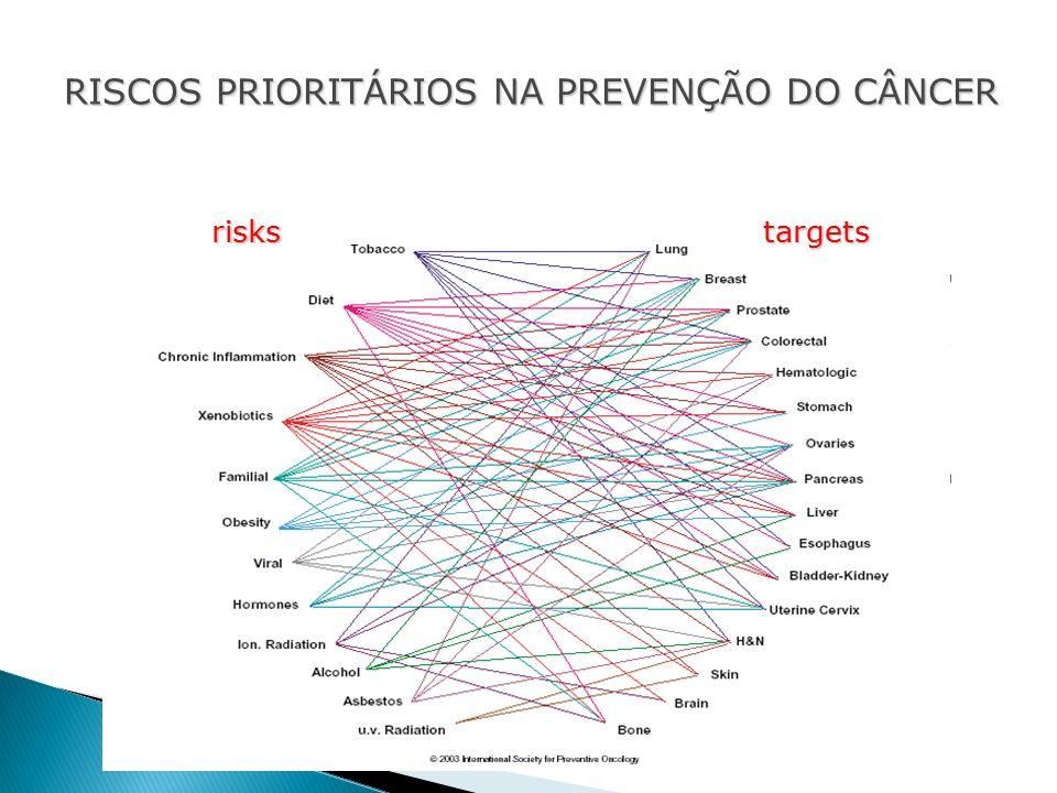 RISCOS PRIORITÁRIOS NA PREVENÇÃO DO CÂNCER targetsrisks