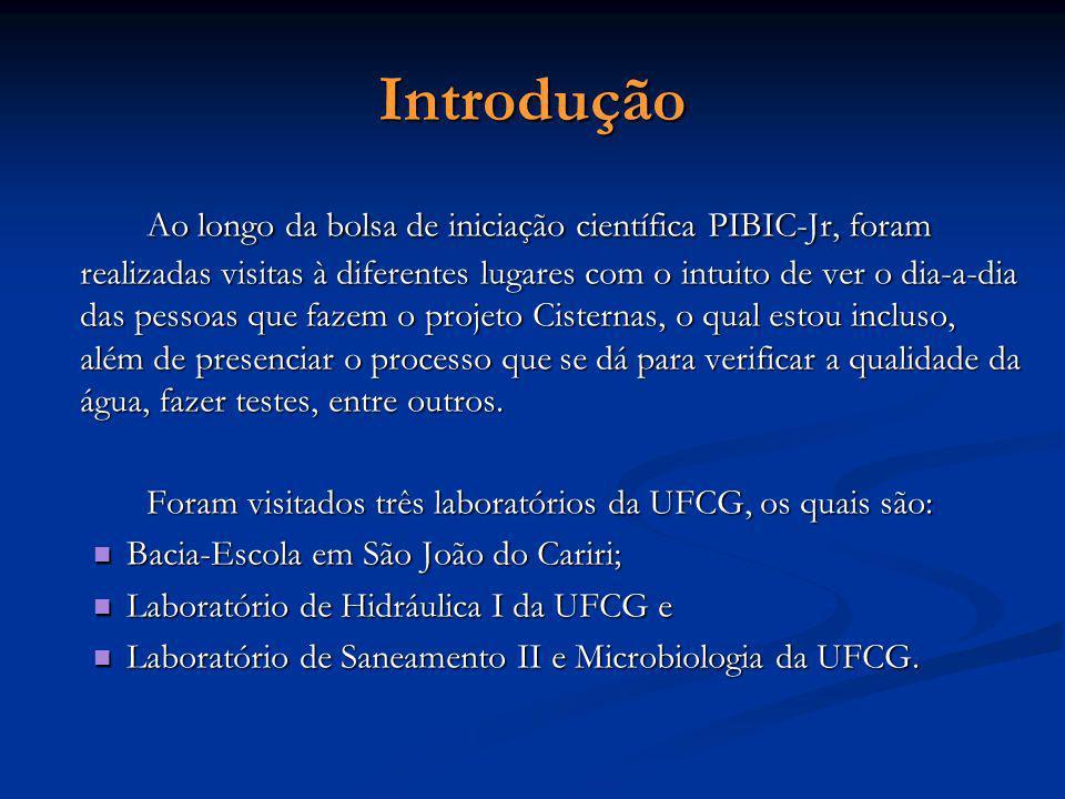 Visita à Bacia-Escola Foi feita uma visita à Bacia- Escola, a qual está localizada no município de São João do Cariri – PB Foram vistos os equipamentos de medição de umidade relativa do ar, pluviometria, radiação global, e outros instalados em tal localidade.