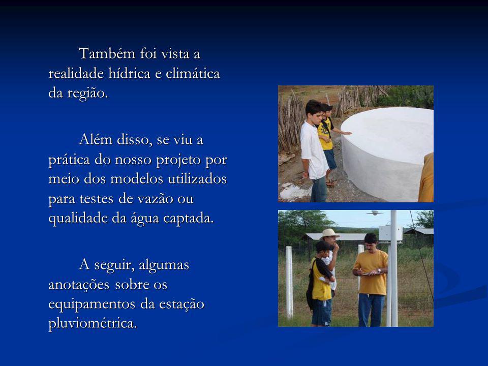 Equipamento Função e Observações Anemômetro É um instrumento que mede a intensidade e direção dos ventos.